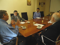 Presidente nacional y primer vicepresidente participan en reunión con INN