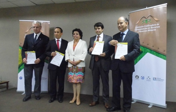 Certificados Comisión Calificadora de Competencias y Recursos y Reservas Mineras