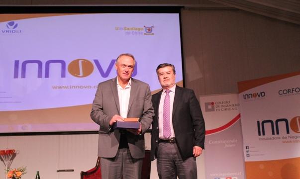 Colegio de Ingenieros y Centro Innovo Usach otorgaron el Premio al Emprendedor del año.