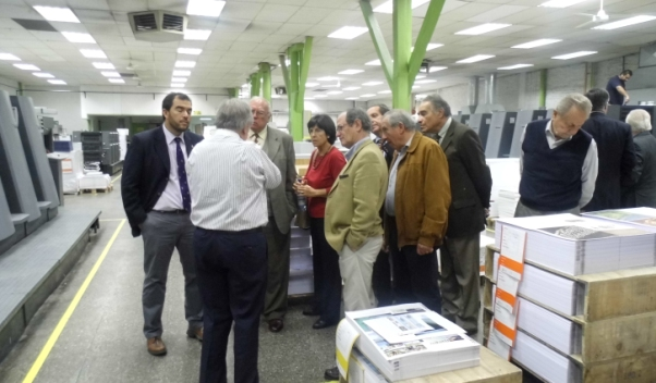 Ingenieros visitaron imprenta Ograma